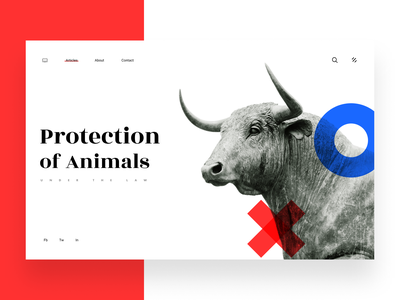 Protect statue sculpture animal character protect bull animal header clean minimal ritzmo ui