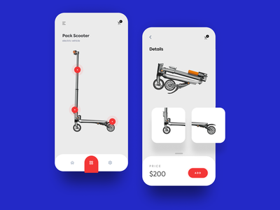 Pack Scooter - Store rounded ios card graphics free icon app typography clean web ritzmo ui