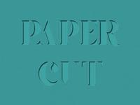 Papercut Text Effect