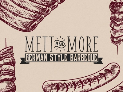 Mett And More BBQ Concept hipster schaschlik spareribs sausages concept more and mett bbq