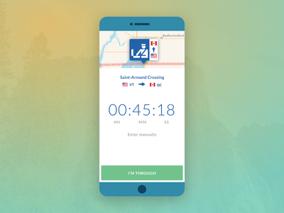 Daily UI :: Border Timer border mobile app dailyui