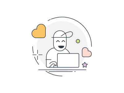 A happy product user web product illustration