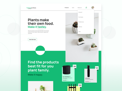 UI Challenge Day  1 typography minimal web ux green patterns value proposition button call to action products plants ecomerce ui daily challenge design