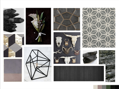 Mood board for Local Jeweler's Website design visual design moodboard