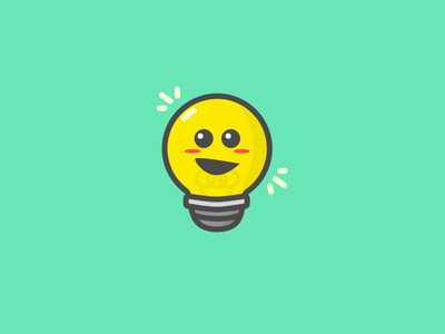 Newbie Logo Design cute fun happy icon visual design light bulb logo design