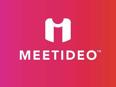 Meetideo - Logo logo negative space logo hidden logo