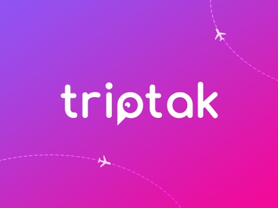 Triptak - Logo identity lettering hidden logo branding logo