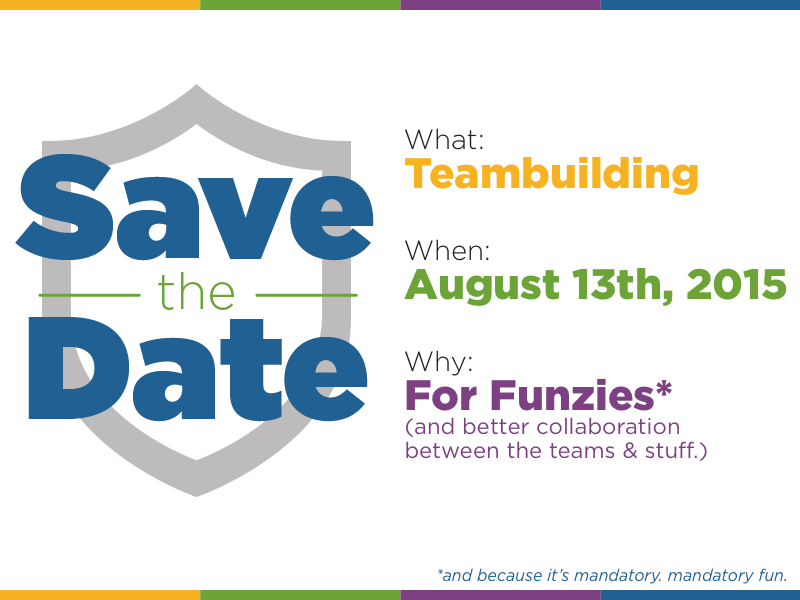 save the date card for teambuilding event by jess zak dribbble