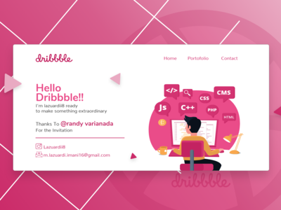 Hello Dribbble, Am here now