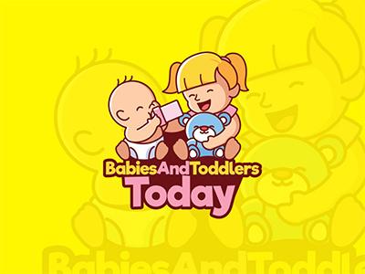 Babies & Toddlers Logo kids Store Design mascot vector cute teen children design toddlers babies baby kids logo