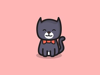 Pussy Cat Logo Design animal lover cat lover puss pussycat new mascot logo kitty kitten kids design cat