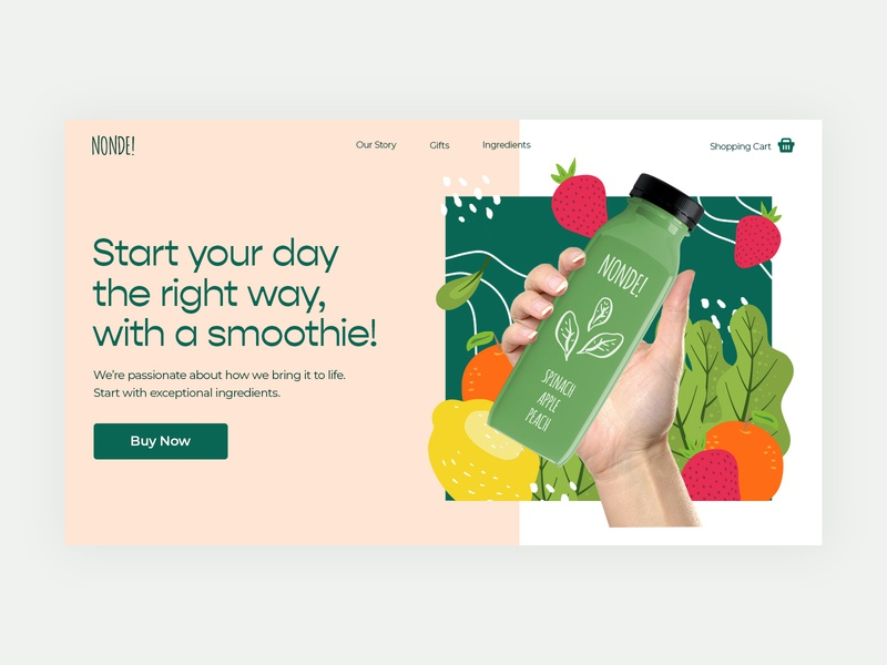 Smoothie Hero Image Concept drinks smoothies hero image website site drink smoothie
