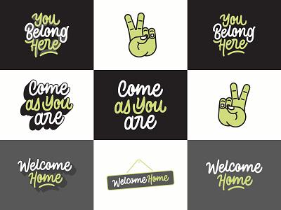 Welcome Home - Vector Pack lettermark illustrator vector illustration illustraion typeface type design typedesign logotype vector art vector typography mark logo design lettering hand lettering custom type design brand branding type