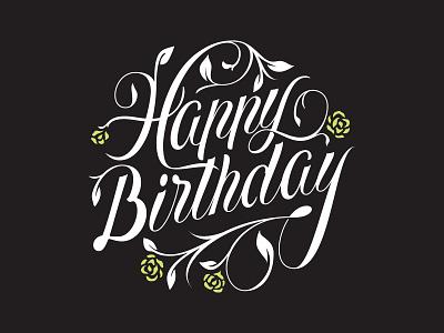 Happy Birthday! illustration handlettering typography vector lettering hand lettering custom type logo branding type