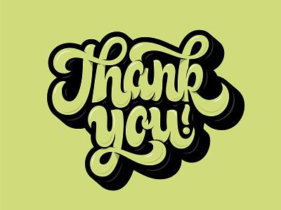 Thank You, It's Friday! illustration typography vector hand lettering custom type logo design brand branding type