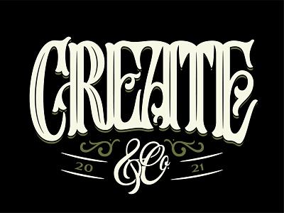 Create & Co. ligature lettering design custom lettering serif font serif typeface logotypes logotype create typedesign victorian lettering brand identity handlettering typography logo design hand lettering logo custom type branding type