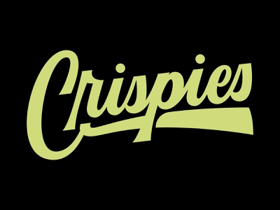 Crispies Logotype illustrations logodesign letters script lettering script customtype pizza logotypes logotype illustration handlettering typography lettering logo design hand lettering brand custom type logo branding type