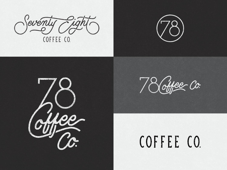 78 Coffee Co. - Responsive Branding letters hand lettering typography vector handlettering logomark brand identity brand design logo design logotype hand drawn lettering graphic design design mark logo custom type branding brand type