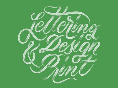 Lettering • Design • Print - Custom Lettering ux ui calligraphy script letters illustration graphic design brand identity hand drawn hand lettering handlettering logo design typography design lettering custom type brand branding logo type