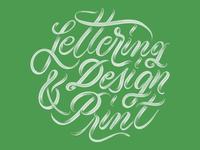 Lettering • Design • Print - Custom Lettering