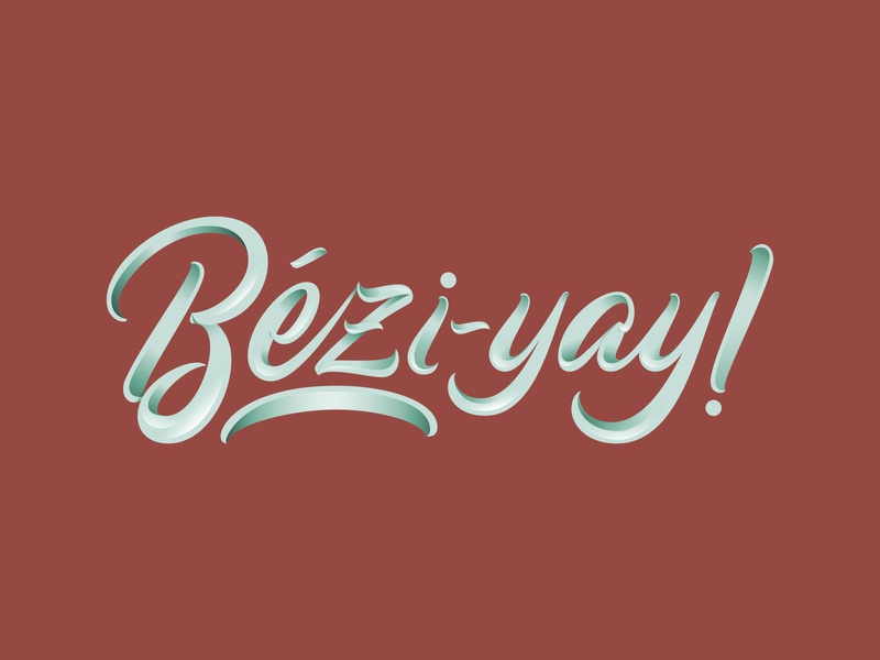 Bézier Curve = Bézi - YAY! typedesign typography beziercurves bezier curves bezier illsutrator logodesign logotype vector illustration vector mark lettering logo design hand lettering custom type design brand logo branding type