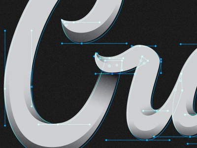 Cray brand identity typography logomark hand lettering custom type design brand logo branding type