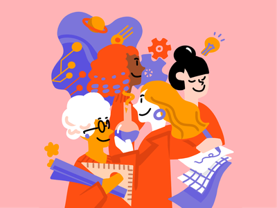 Society of Women Engineers women in tech illustration
