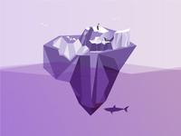 Purple Iceberg