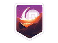 To The Moon Badge