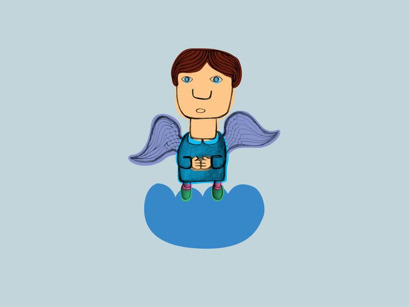 Angel book illustraion