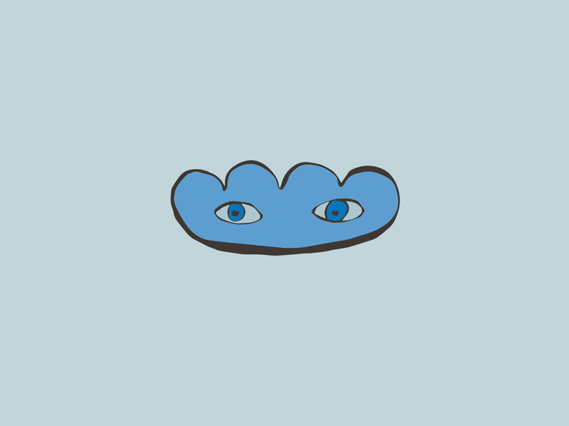 Cloud with eyes cloud childrens book book illustraion