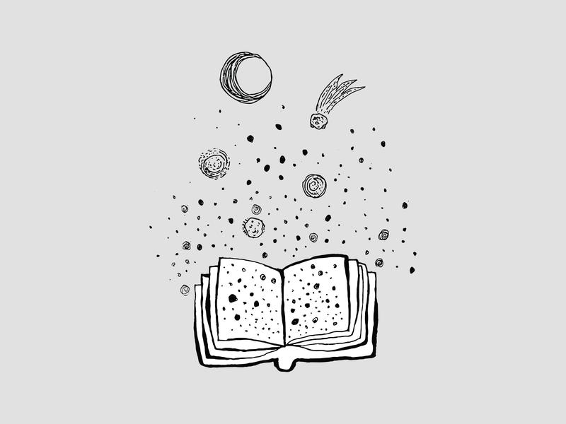small dot among other similar stars stars book illustraion