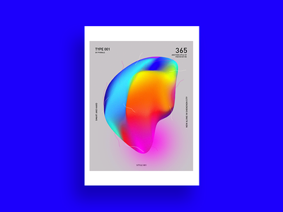 Futurism Poster-01 蓝色 海报 图案 渐变 排版 设计 插图