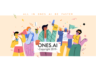 ONES.AI' 2019 ux branding fun girl 女孩 illustration