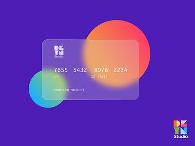 Glass Effect Card Design! clean logo illustration branding design