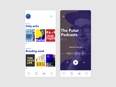 Podcast App concept