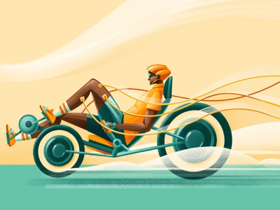 Pulse Racing - VU Amsterdam rehab bachelor technology exercise disability injury racing bike university procreate ipad pro illustration chiara vercesi
