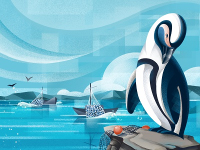 The price of extinction - African Penguin overfishing african penguin extinction earthday earthday2021 conservation zoo sketches animals illustrated penguin wildlife animals procreate illustration chiara vercesi