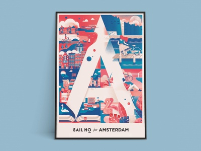 De Eerste - Sail Ho studio exhibition vector shostudio poster illustration exhibition collaboration event city amsterdam sail ho studio chiara vercesi