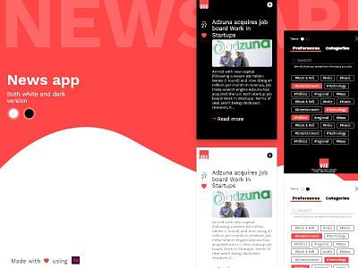 News App newsapp ux ui xd design android news