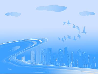 FantaSea design dreams nature illustrations clouds mothernature birds city colours blue sea fantasy
