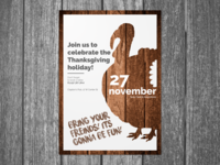 Poster On Thanksgiving Holiday