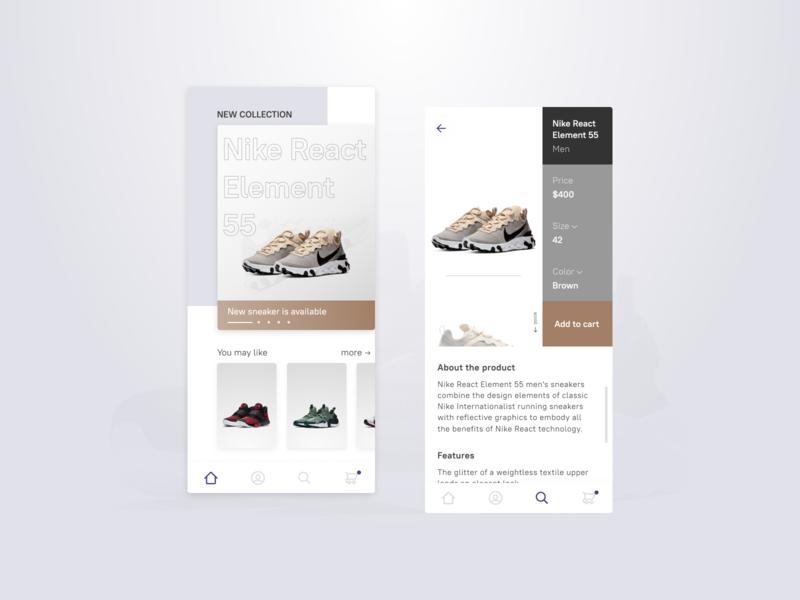 Nike Store app ux typography branding mobile web ui ux design