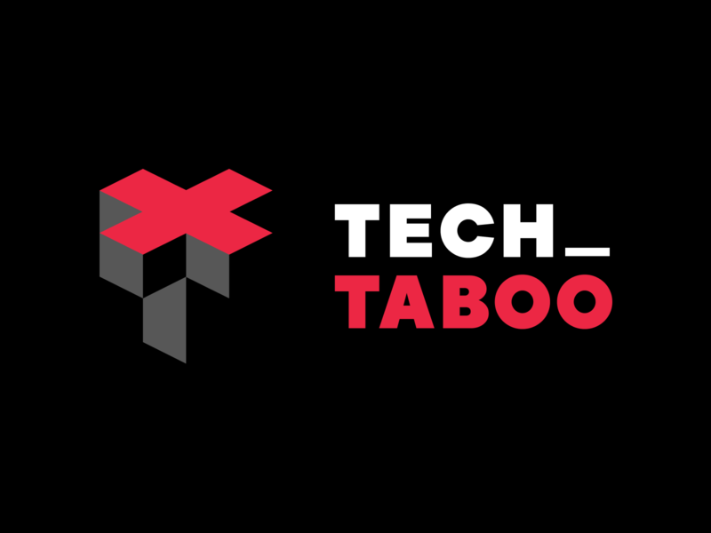 Tech Taboo - Logo for a podcast about tech fuckups brand identity brand logo design fuckup podcasts podcast logo