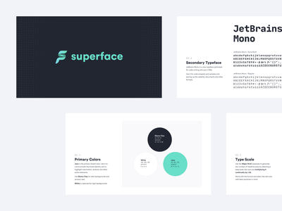Superface Brand manual brand manual brand design branding design brand identity logo branding