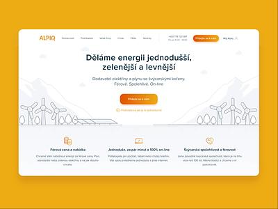 Alpiq Retail retail energy illustration landing page design ux ui