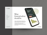 Web design for financial platform