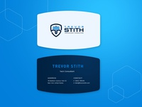 Business Card Design For Tech Consultant