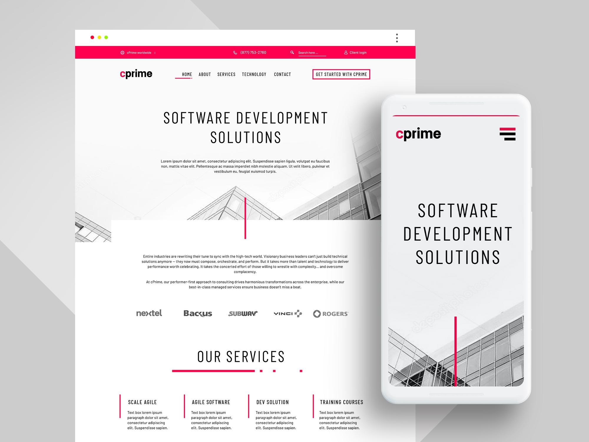 Web Design For Software Development Company by Kama | Neoxica studio