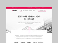 Home page design for software development company